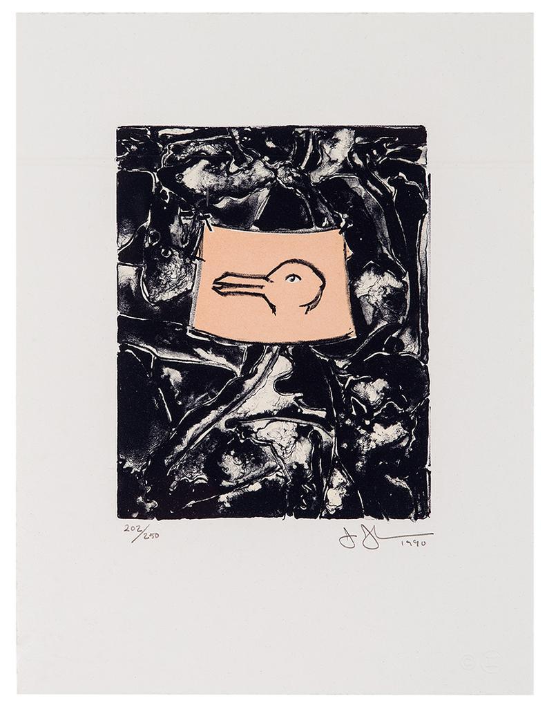 Jasper Johns-Untitled (From Harvey Gantt Portfolio)-1990