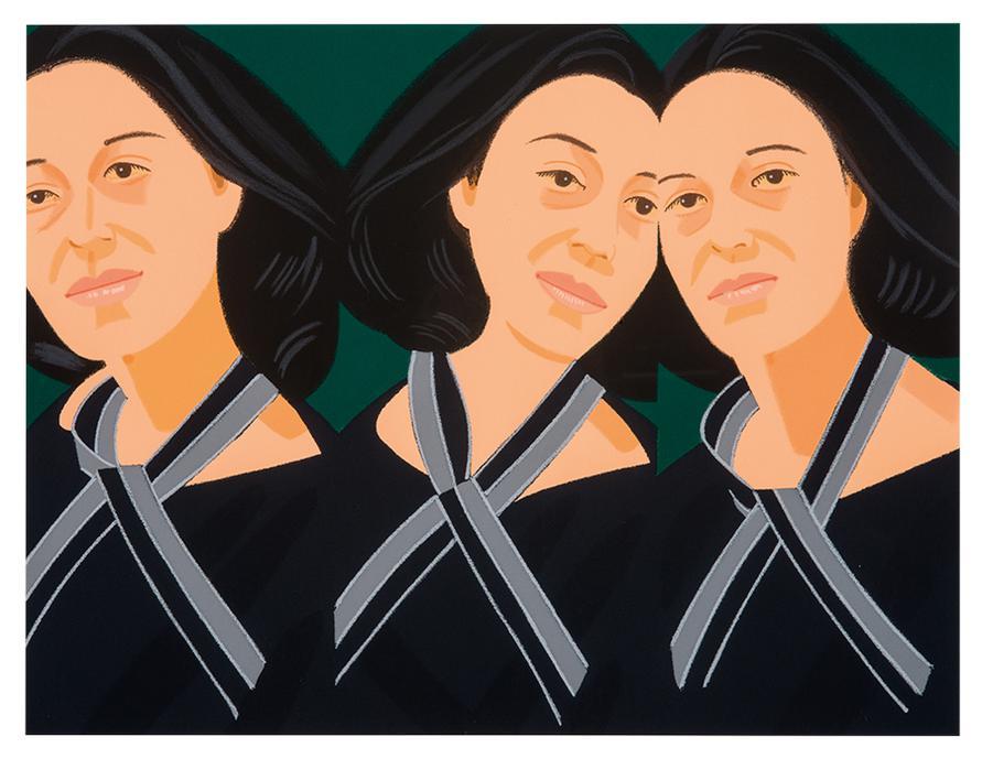 Alex Katz-Gray Ribbon (From Alex & Ada Portfolio)-1990