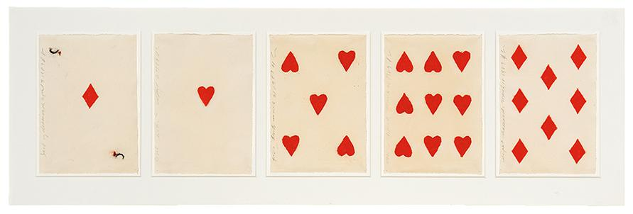 Donald Sultan-Untitled (Cards) (Hearts And Diamonds)-1989