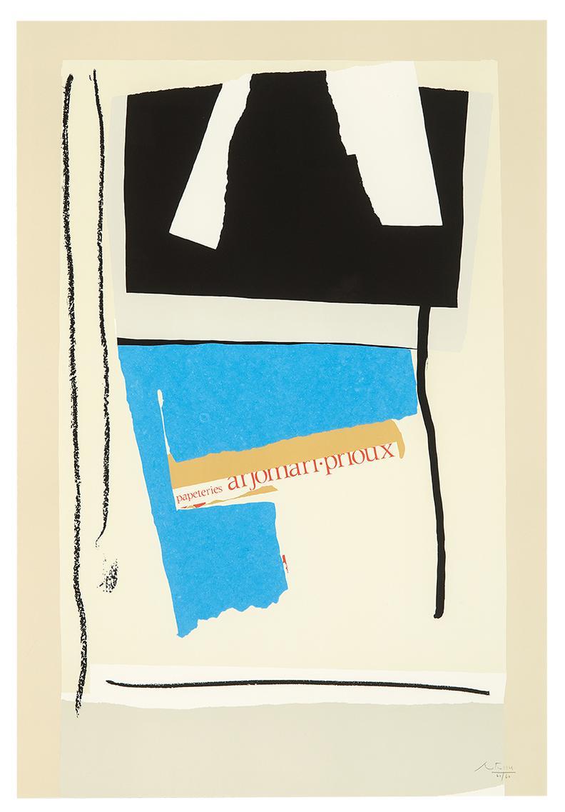 Robert Motherwell-America - La France Variations V-1984