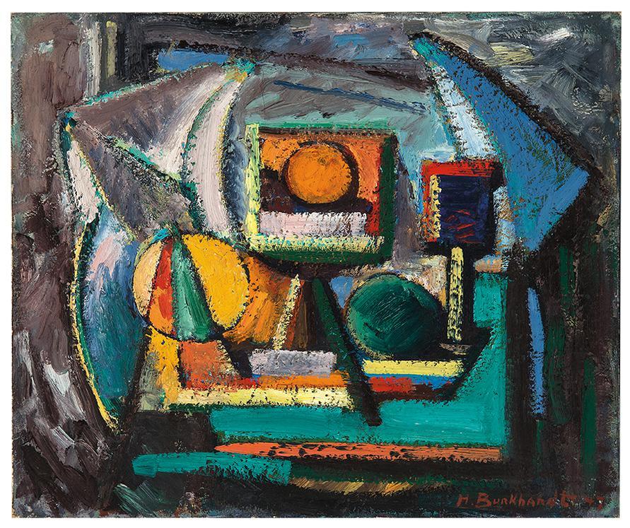 Hans Burkhardt-Abstract Still Life-1947
