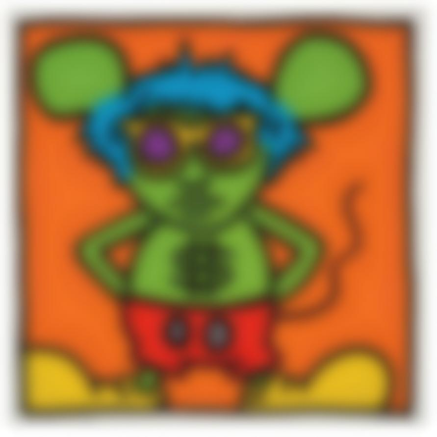 Keith Haring-Plate From Andy Mouse Portfolio-1986