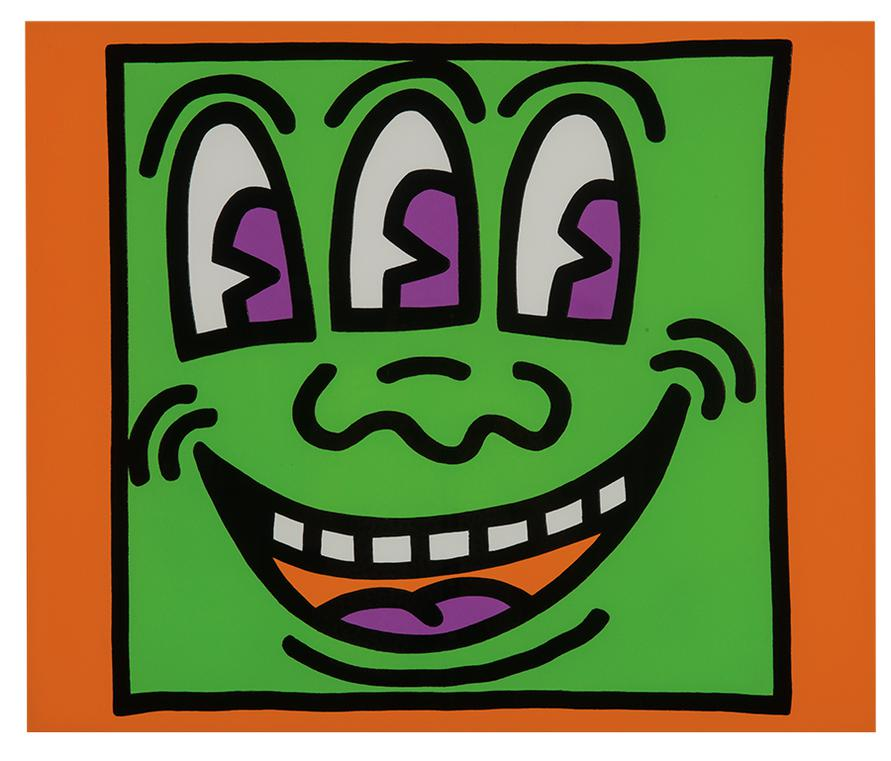 Keith Haring-Plate From Icons Portfolio-1990