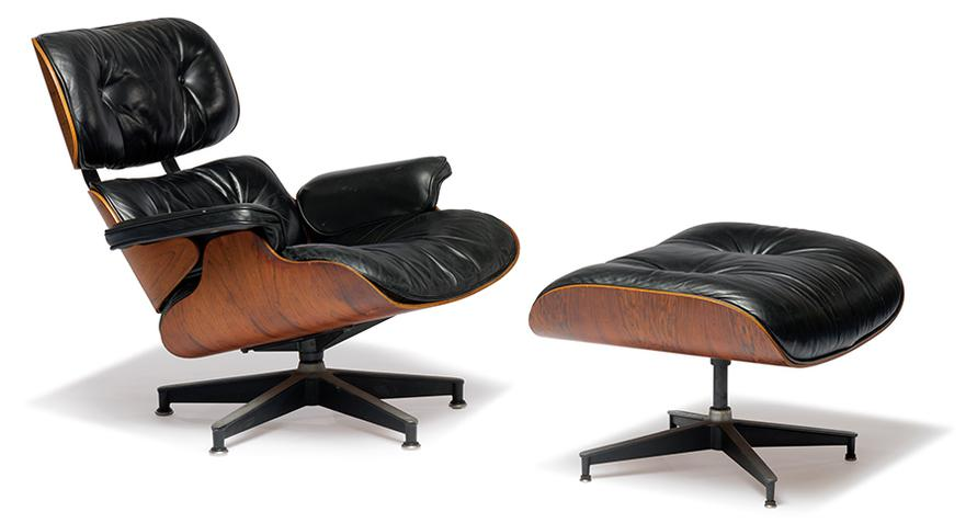 Charles & Ray Eames - Lounge Chair And Ottoman (2)-1976