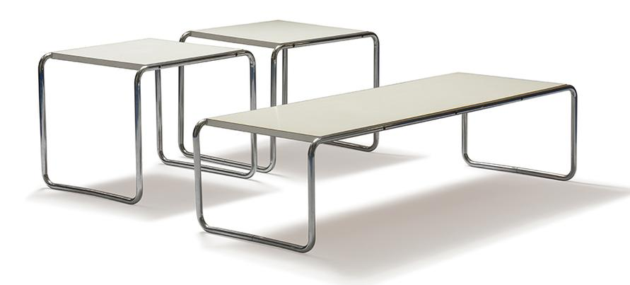 Marcel Breuer-Laccio Side Tables And Coffee Table (3)-1925