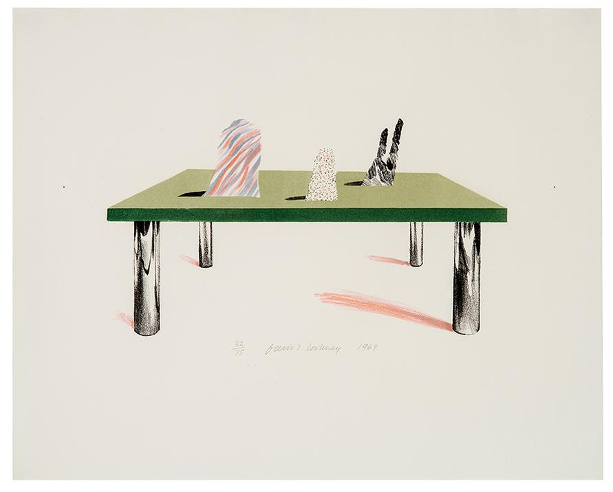 David Hockney-Glass Table With Objects-1969