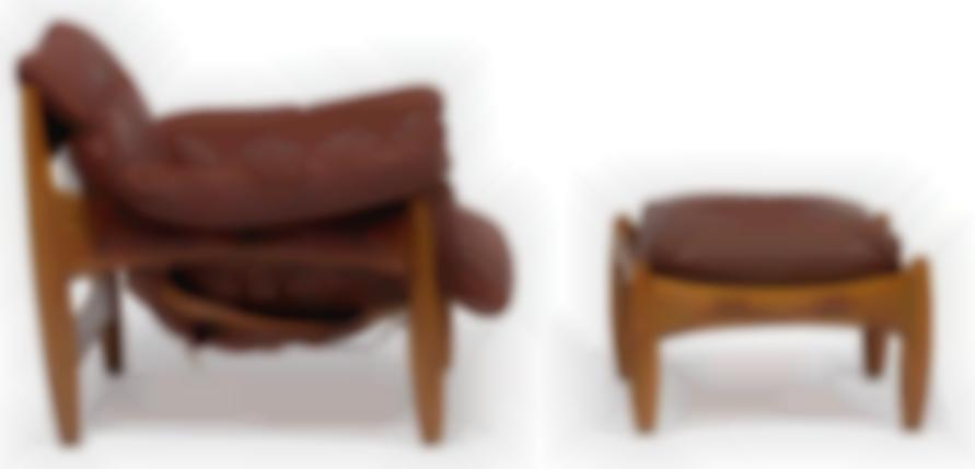Sergio Rodrigues - Sheriff Chairs And Ottoman (3)-1961