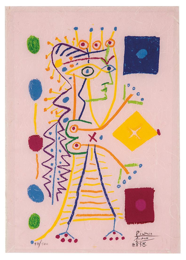 Pablo Picasso-La Femme Aux Des (Jacqueline)-1960