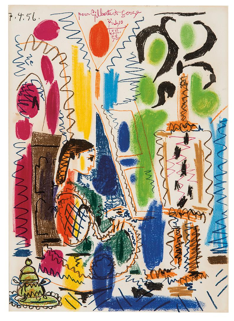 Pablo Picasso-Latelier De Cannes (Cover For Ces Peintres Nos Amis, Volume Ii) (2Nd State)-1958