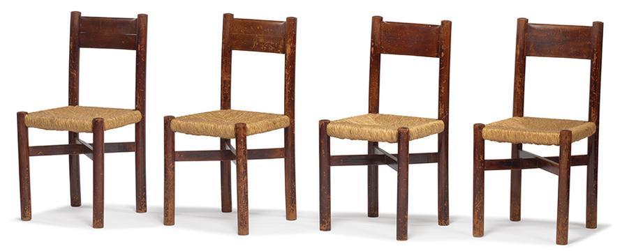 Charlotte Perriand-Rush-Seat Chairs (8)-1941