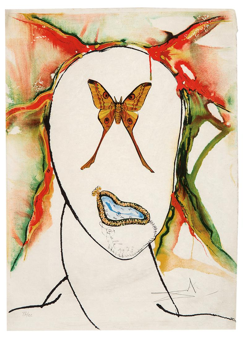 Salvador Dali-Kabuki Dancer-1973