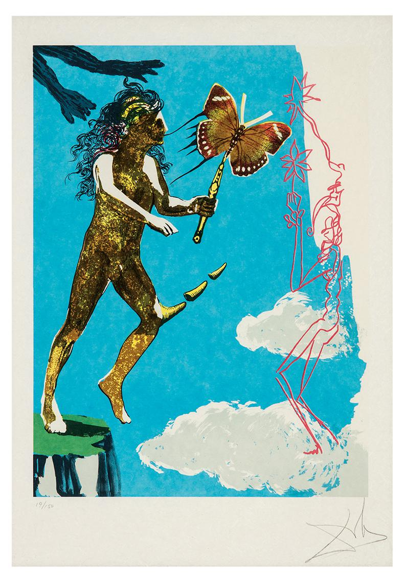 Salvador Dali-Release Of The Psychic Spirit (From Magic Butterfly And The Dream)-1973