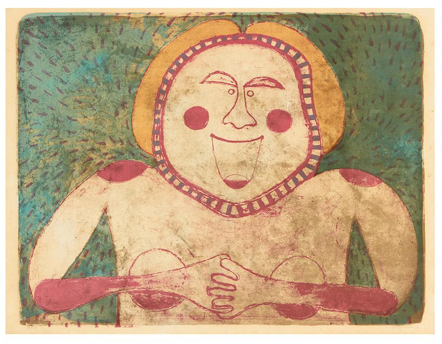 Rufino Tamayo-Femme Souriante-1969