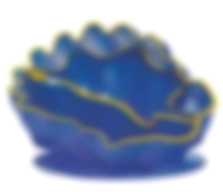 Dale Chihuly-Larkspur Seaform Set With Golden Lip Wraps (2)-2000