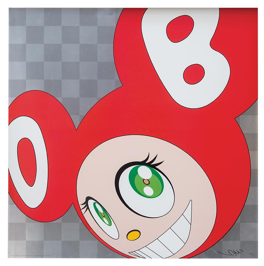 Takashi Murakami-And Then And Then And Then And Then And Then (Red)-1999
