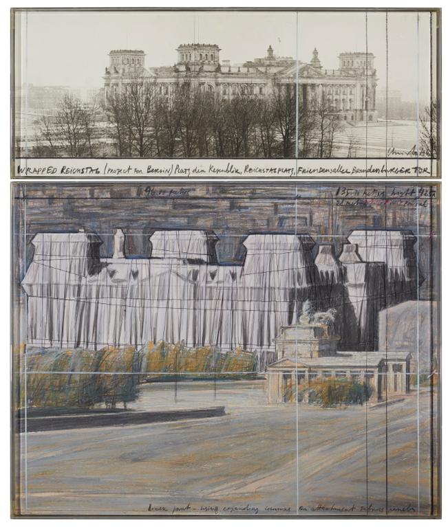 Christo and Jeanne-Claude-Wrapped Reichstag-1985