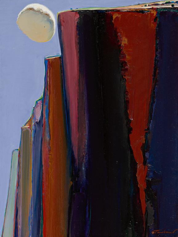 Wayne Thiebaud-Cloud And Bluffs-1972