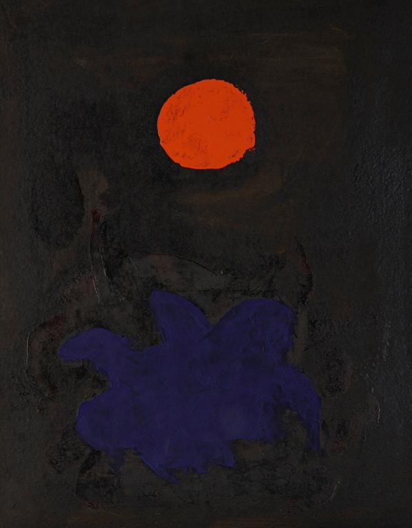 Adolph Gottlieb-Blue On Black-1970