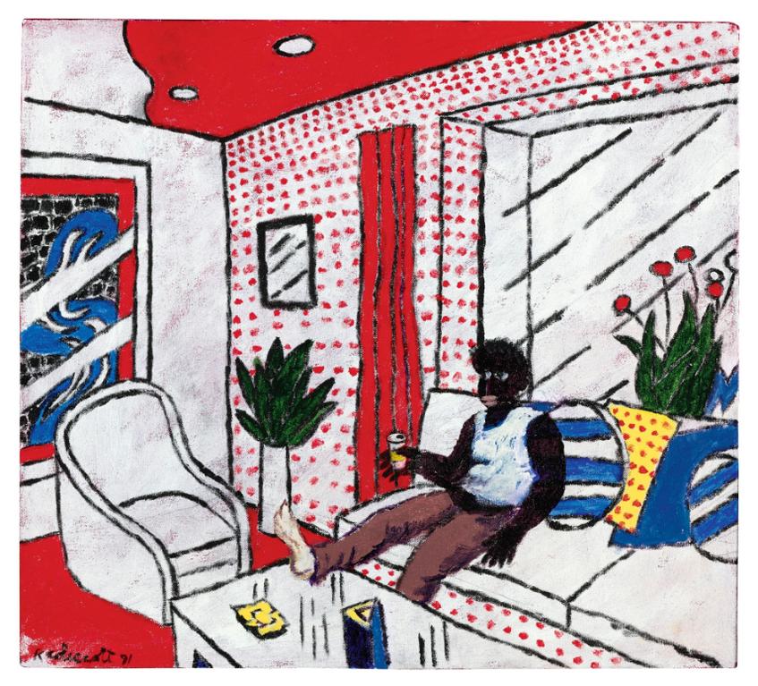 Robert Colescott-Interior I-1991