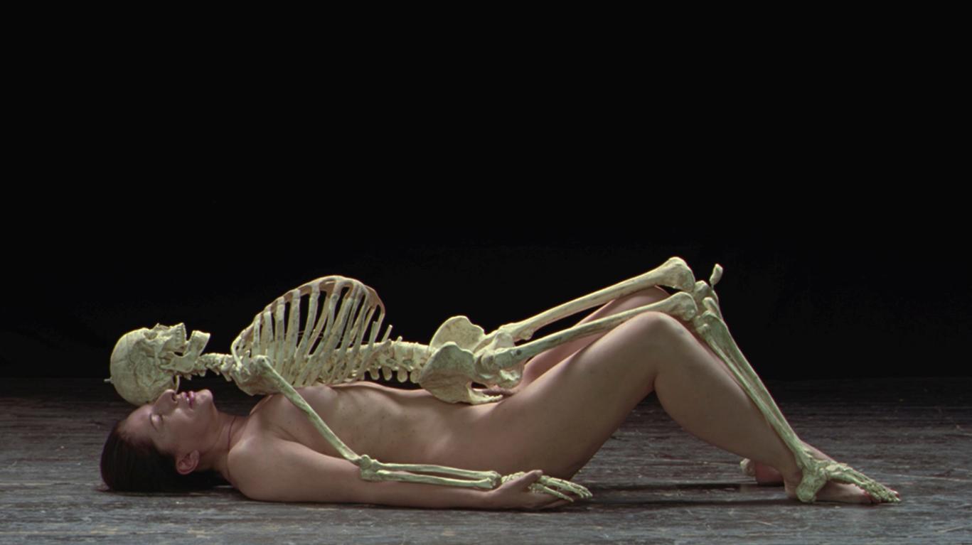 Marina Abramovic-Nude With Skeleton-2005