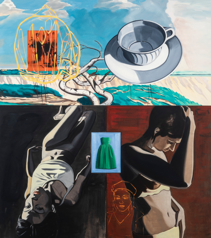 David Salle-Outside Her House-2009