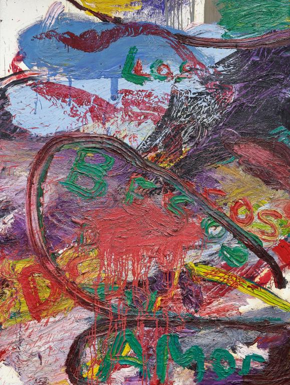Julian Schnabel-Untitled (Los Besos De Tu Amor)-1992