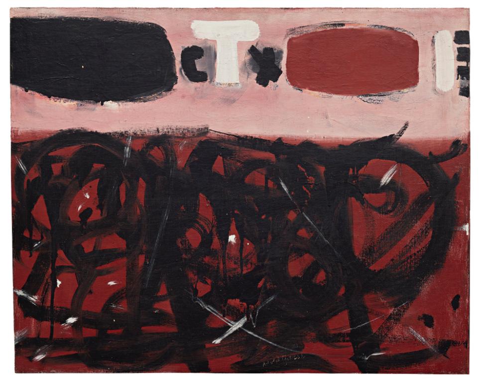 Adolph Gottlieb-Red Ground-1956