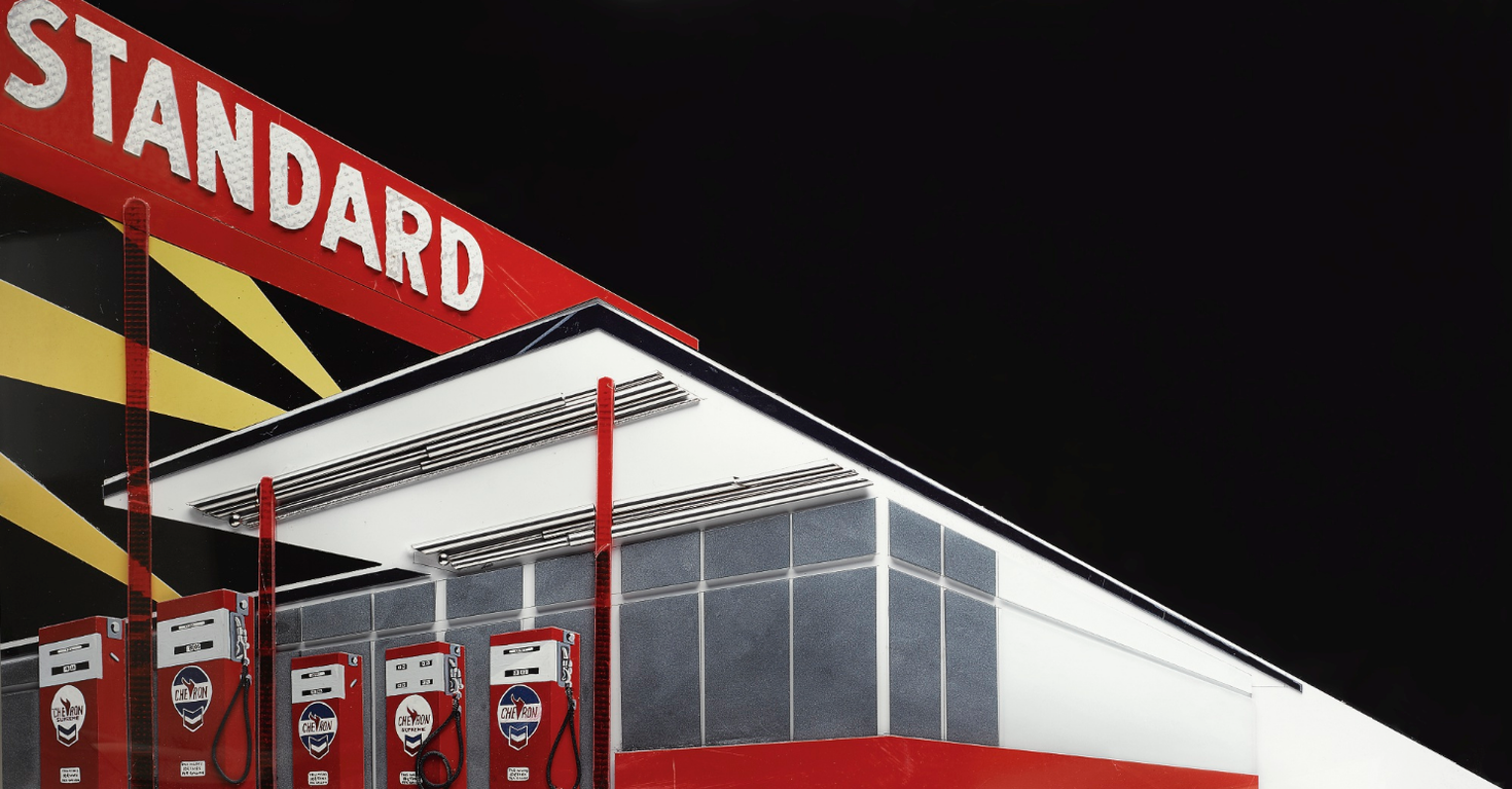 Vik Muniz-Standard Station (Night) After Ed Ruscha (From Pictures Of Cars)-2008