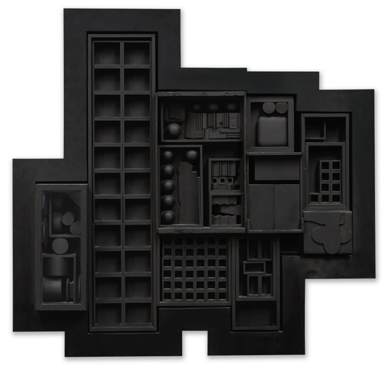 Louise Nevelson-Black Zag T-1968