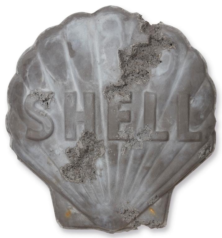 Daniel Arsham-Obsidian Eroded Shell Sign-2014