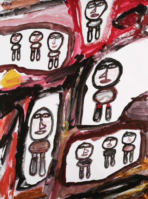 Jean Dubuffet-Site Avec 9 Personnages-1980