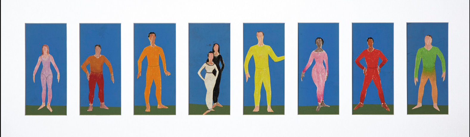 Alex Katz-Untitled (Costume Designs For Post Meridian / Paul Taylor Dance Company)-1965