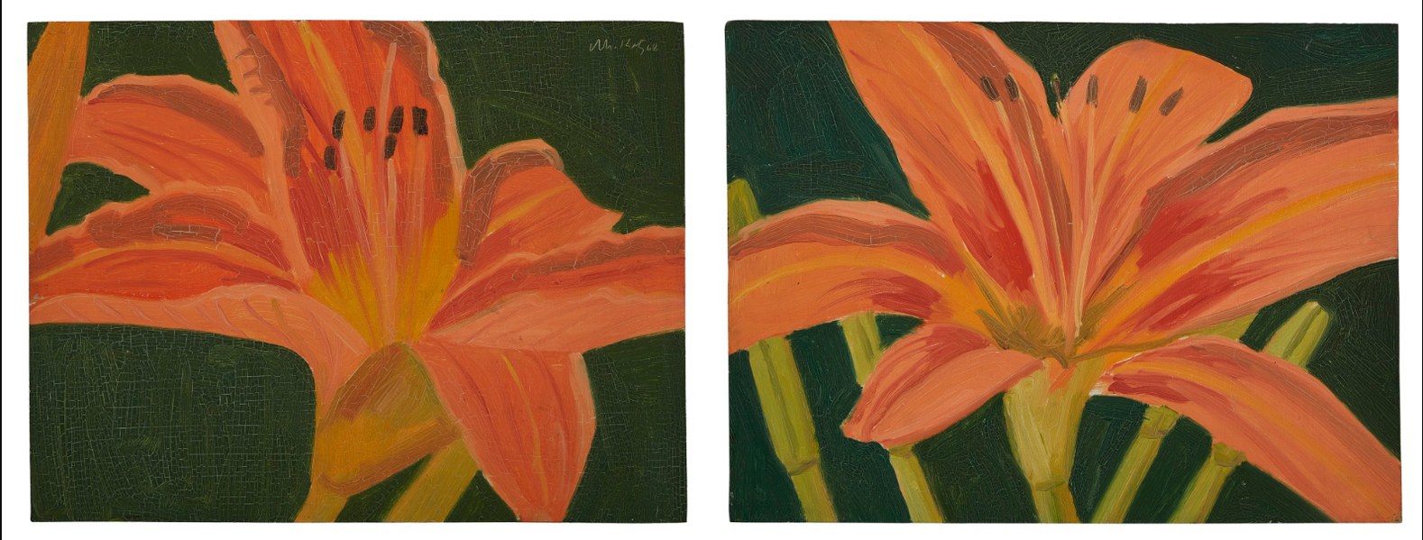 Alex Katz-Untitled (Lilies) [Two Works]-1968