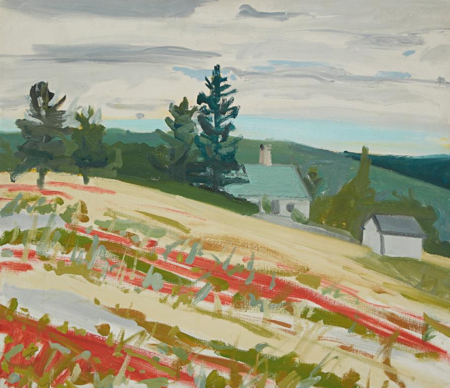 Alex Katz-Landscape, Maine-1964