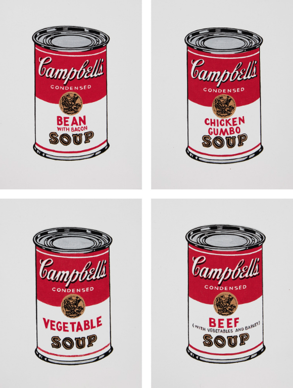 Richard Pettibone-Campbells Soup [Four Works]-1987