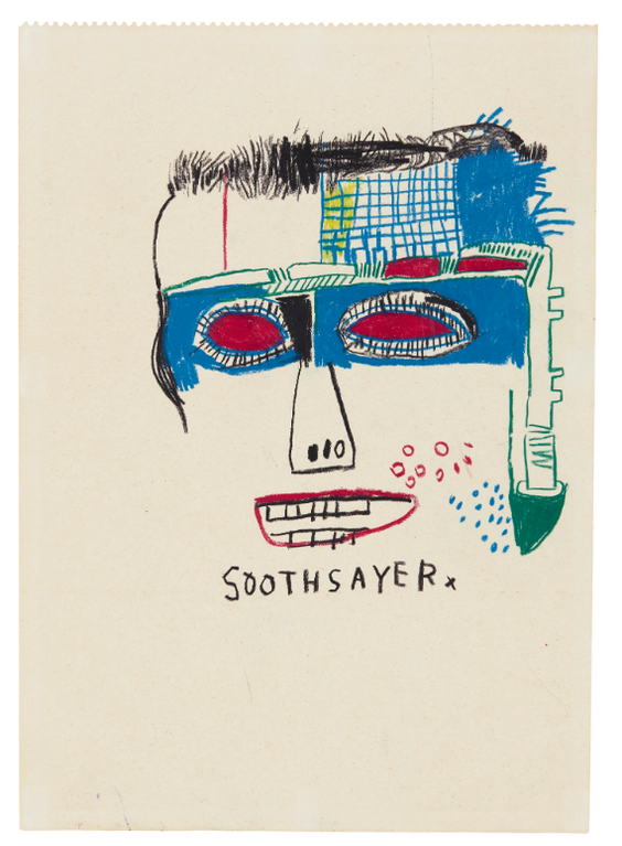 Jean-Michel Basquiat-Soothsayer-1983