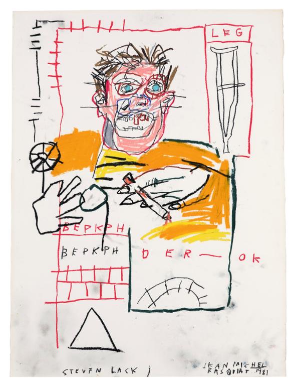 Jean-Michel Basquiat-Untitled (Portrait Of Steven Lack)-1981