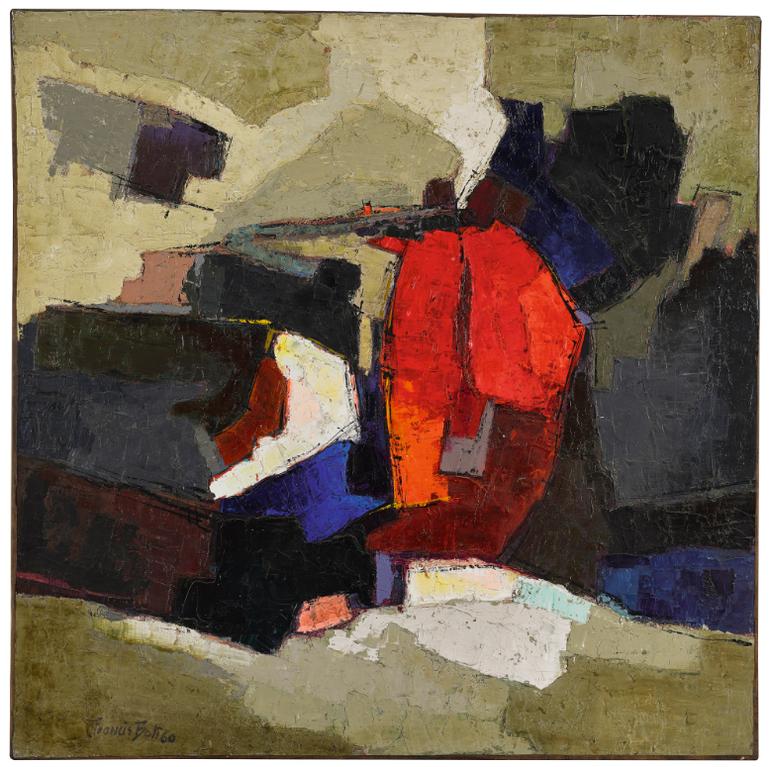 Francis Bott - Komposition In Hellem Rot-1960