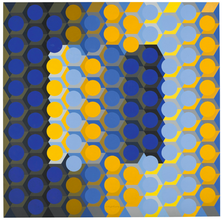 Victor Vasarely-Ion-J-1971