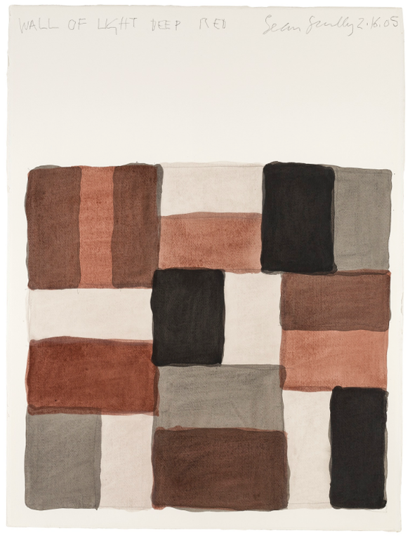 Sean Scully-Wall Of Light Deep Red-2005