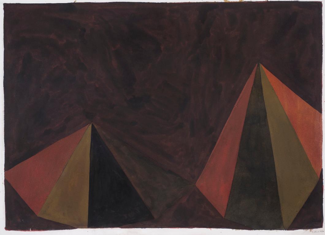 Sol LeWitt-Two Asymmetrical Pyramids-1986