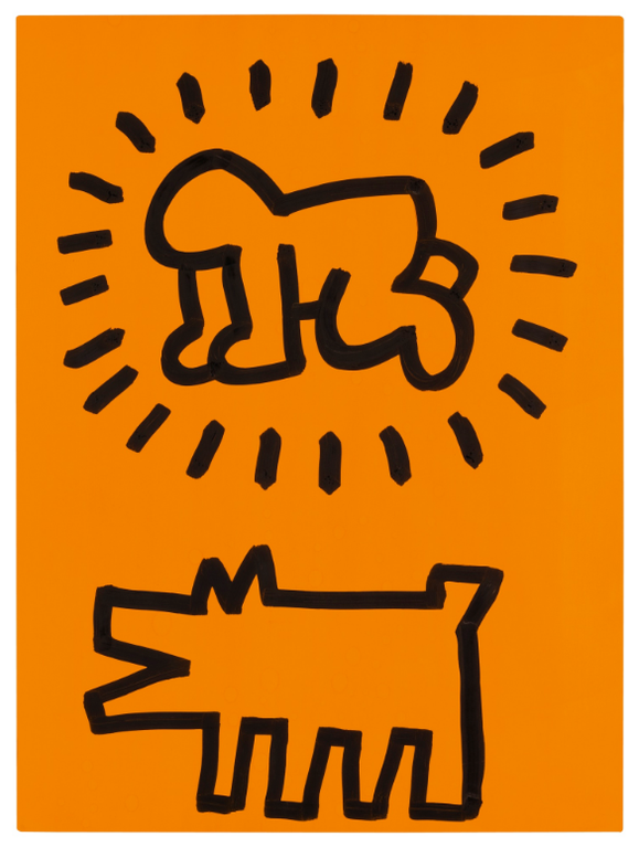 Keith Haring-Untitled (Radiant Baby And Barking Dog)-1984