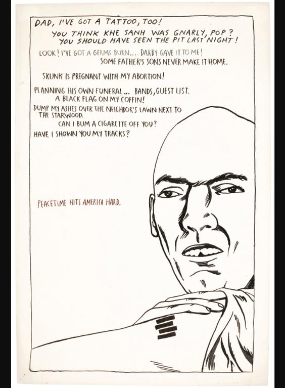 Raymond Pettibon-Untitled (Dad Ive Got A Tattoo Too!)-1989