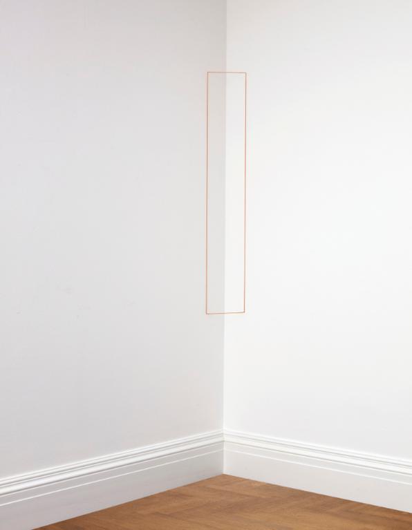 Fred Sandback-Untitled (Small Rectangular Corner Piece)-1968