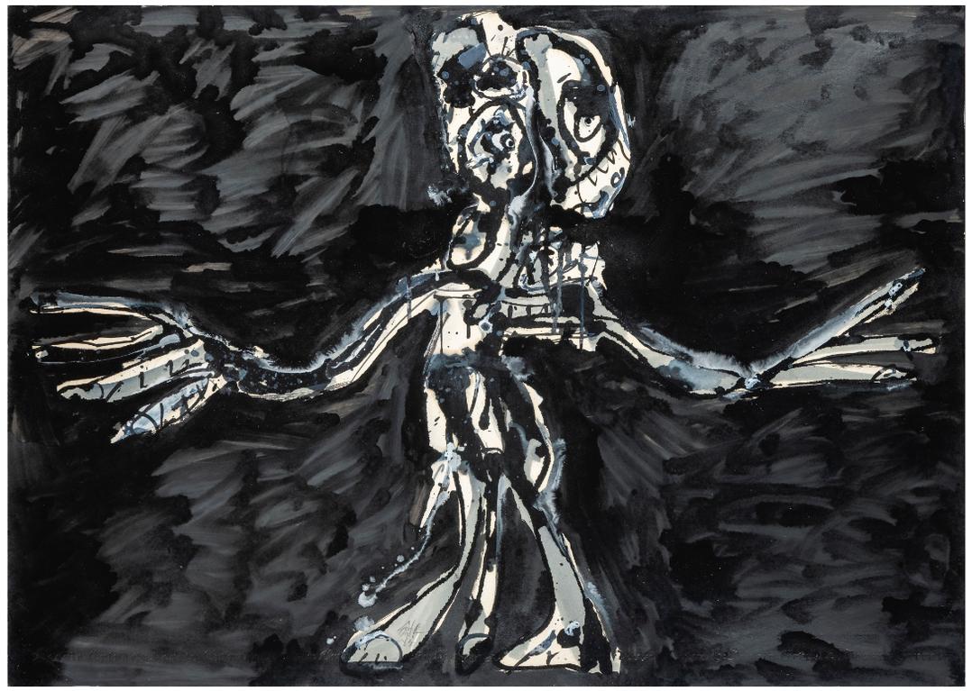 Antonio Saura-Crucifixion-1984