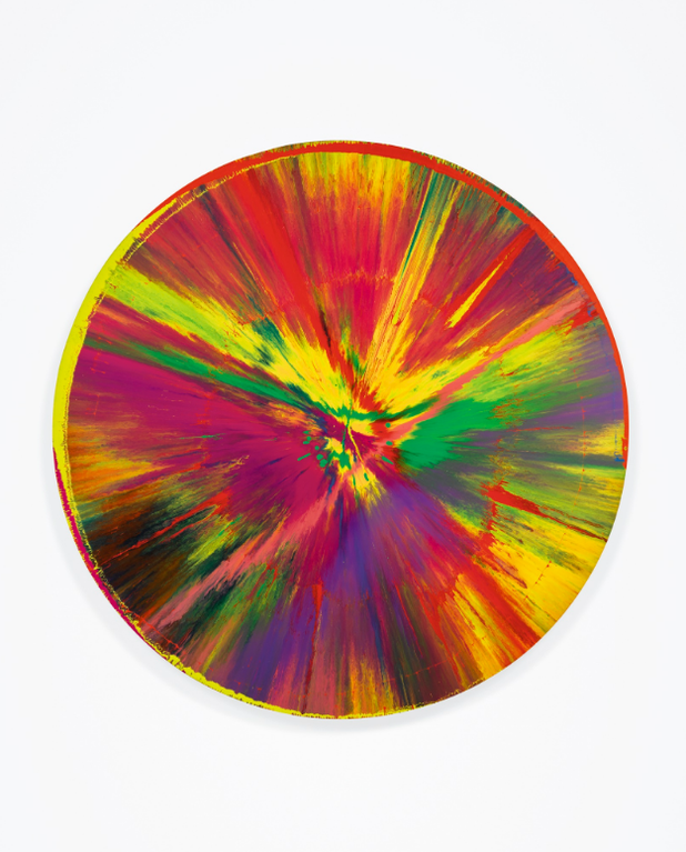 Damien Hirst-Beautiful Late Spin Painting-2009