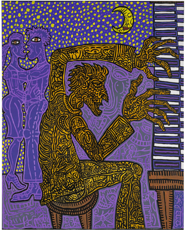 Robert Combas-Le Pianiste-1987