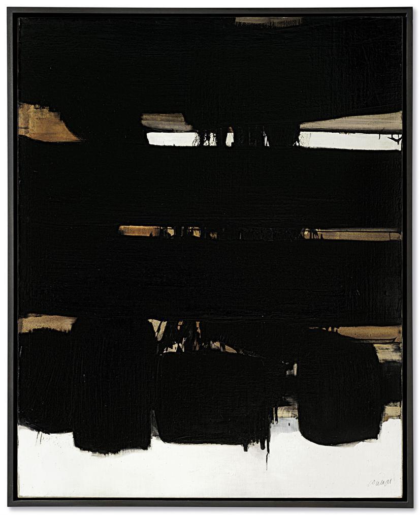 Pierre Soulages-Peinture 162 X 130Cm, 16 Octobre 1966-1966
