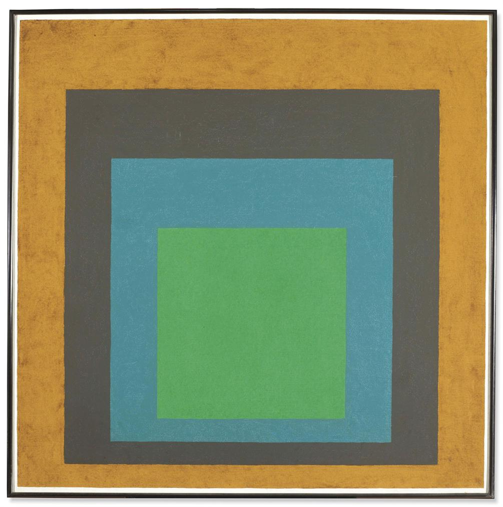 Josef Albers-Homage To The Square: Last Year-1964