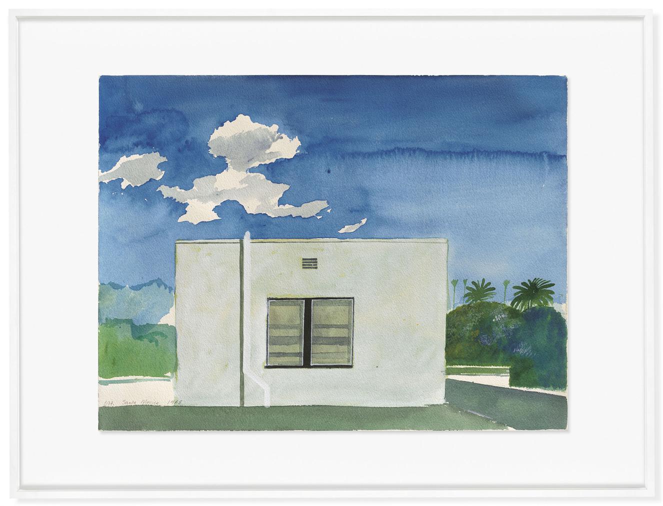 David Hockney-Santa Monica-1968